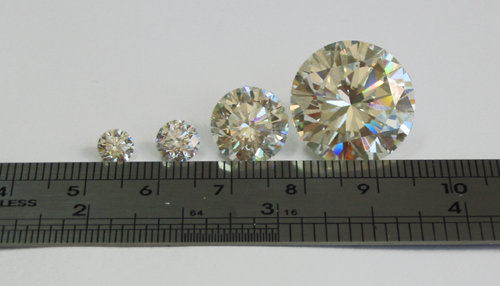 Diamonds of different sizes