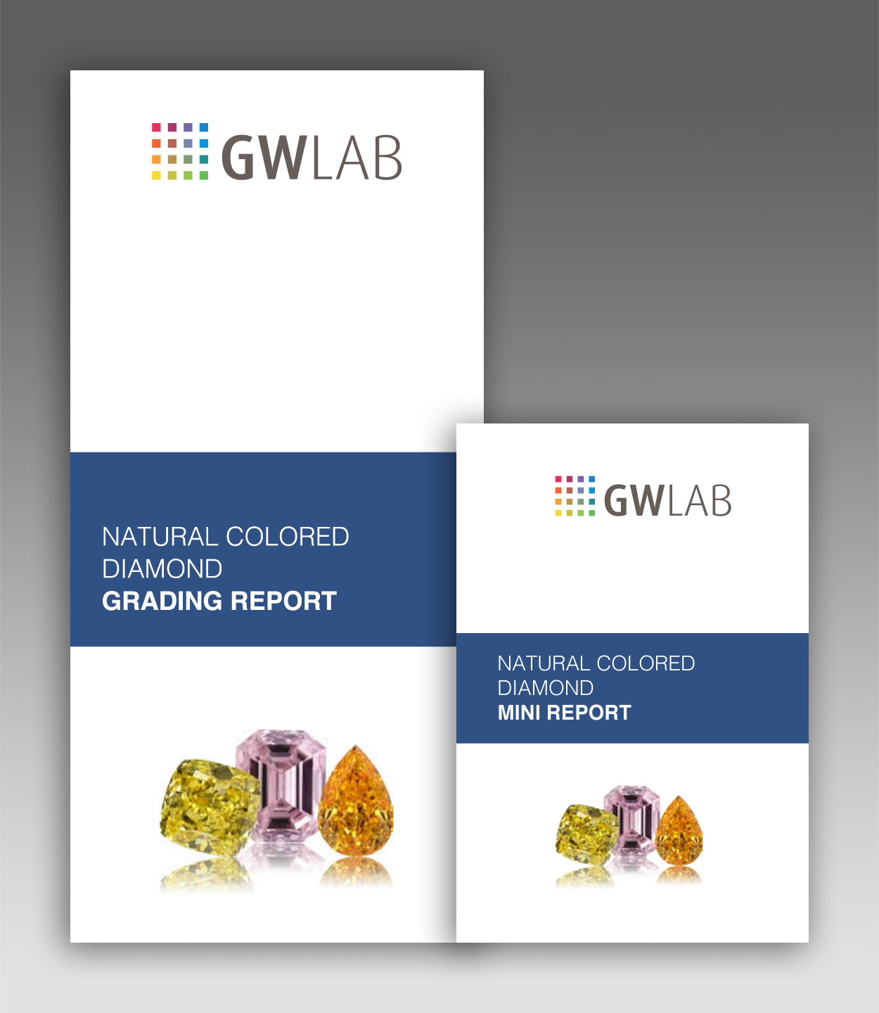 GWLAB Colored Diamond Grading Report - Outer Cover