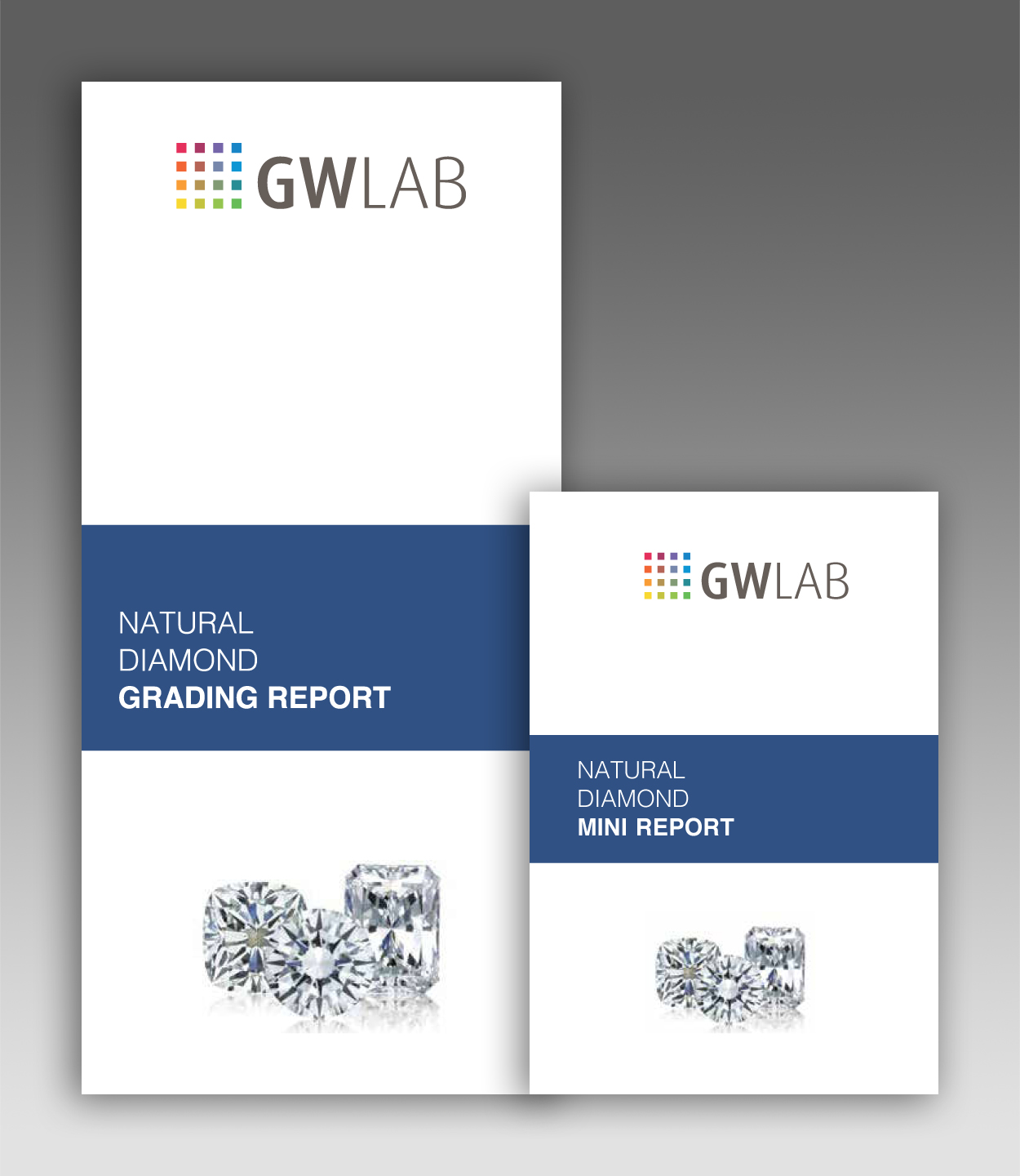 GWLAB Natural Diamond Grading Report - Outer Cover
