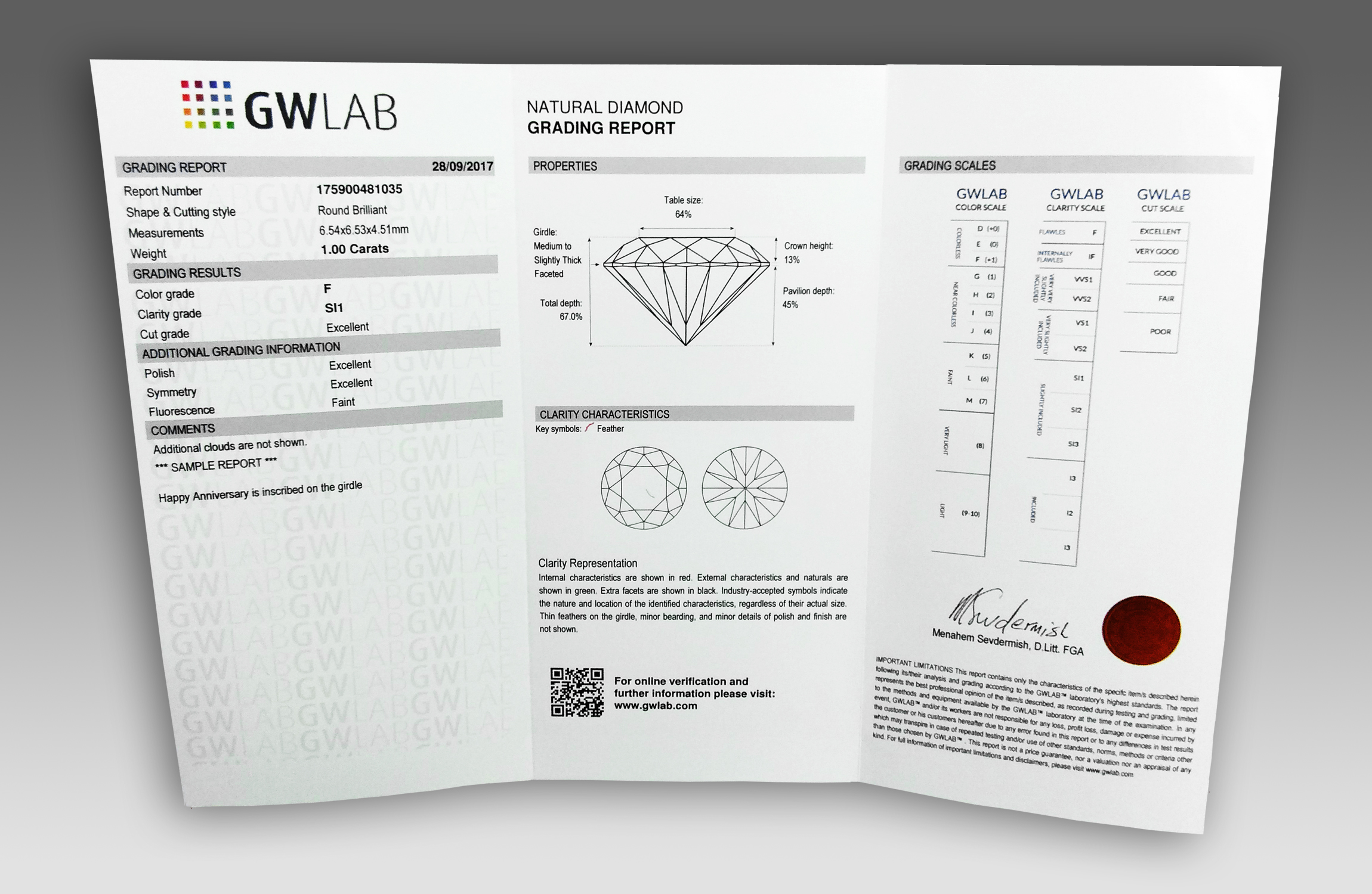 gia cdgr report colored diamond grading of sample en us